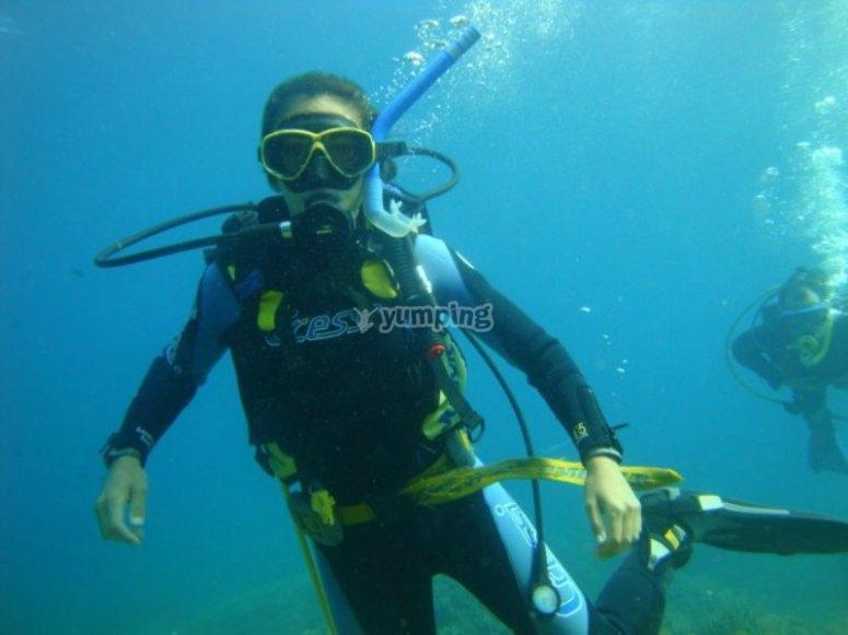 Acquiring skills underwater