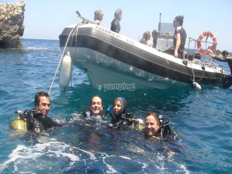 Diving in Jávea