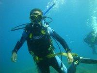 Adquiriendo habilidad bajo el agua