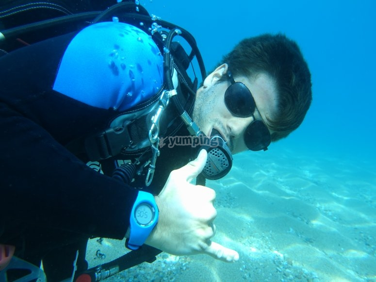 Diving in Calella
