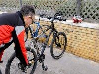 Ciclista en zona lavado