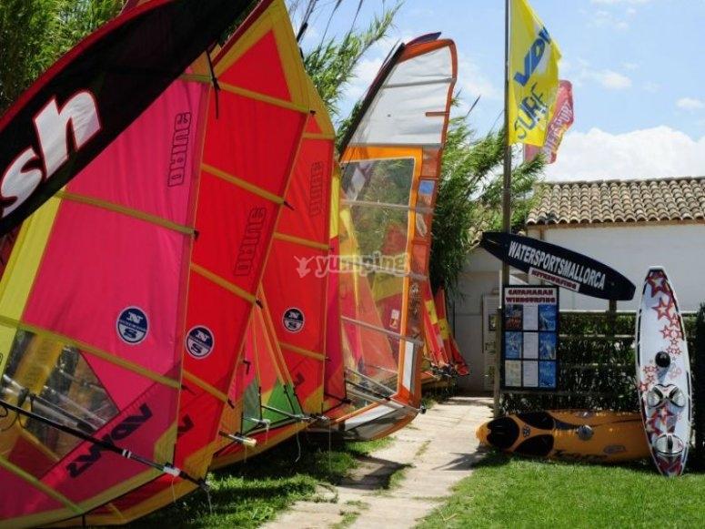 Escuela de windsurf en Mallorca