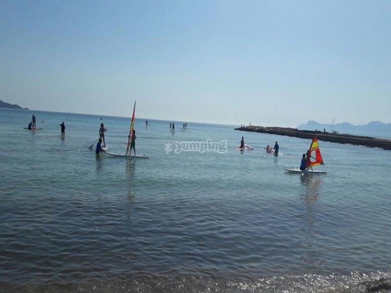 Paddle surf en Bahía de Alcudia