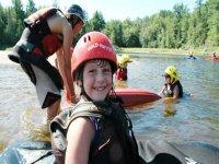 Kayak en el campamento de Pontevedra