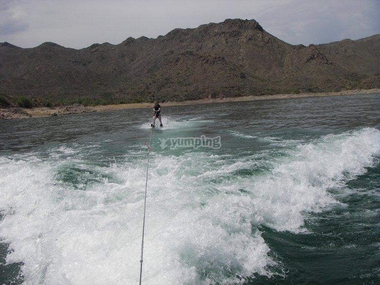 goditi il wakeboard