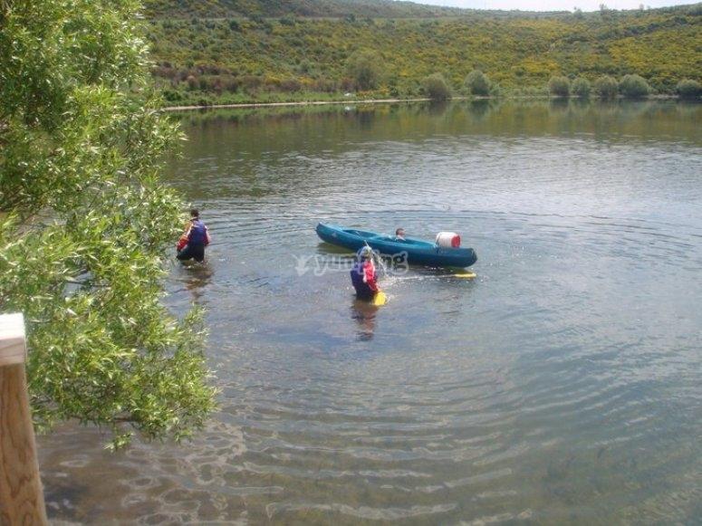 Rafting en el rio