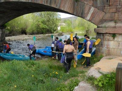 Descenso de kayak por el río Sil tramo largo, 4h