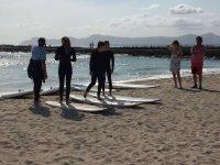 Clase de surf iniciación para niños en Muro 2horas
