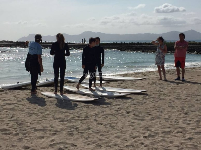 Clases de Surf en Muro