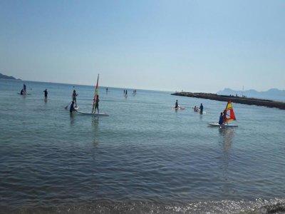Clase de paddle surf en playa de Muro 1 hora