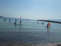 Paddle surf nella baia di Alcudia