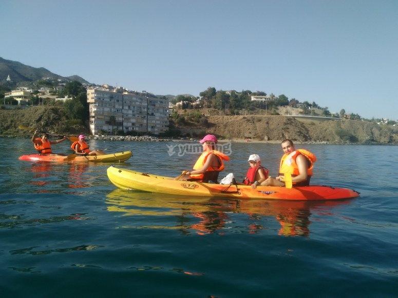 Kayaks en Benalmádena