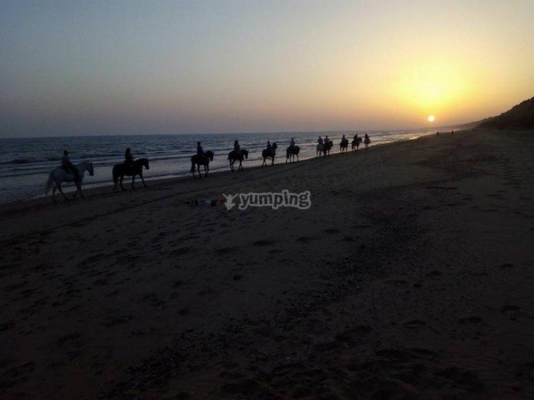 Playa Torre del Loro a caballo