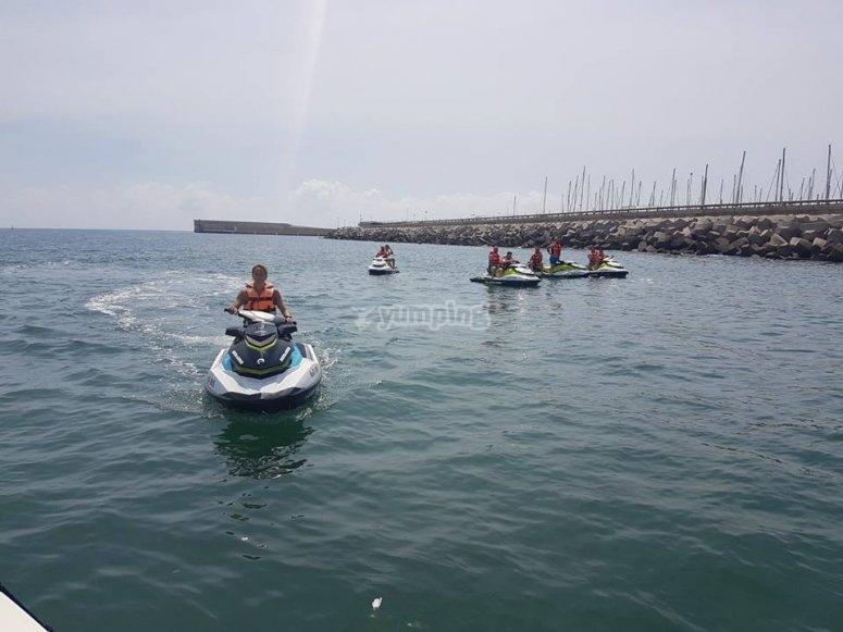 Excursión en moto de agua por Valencia