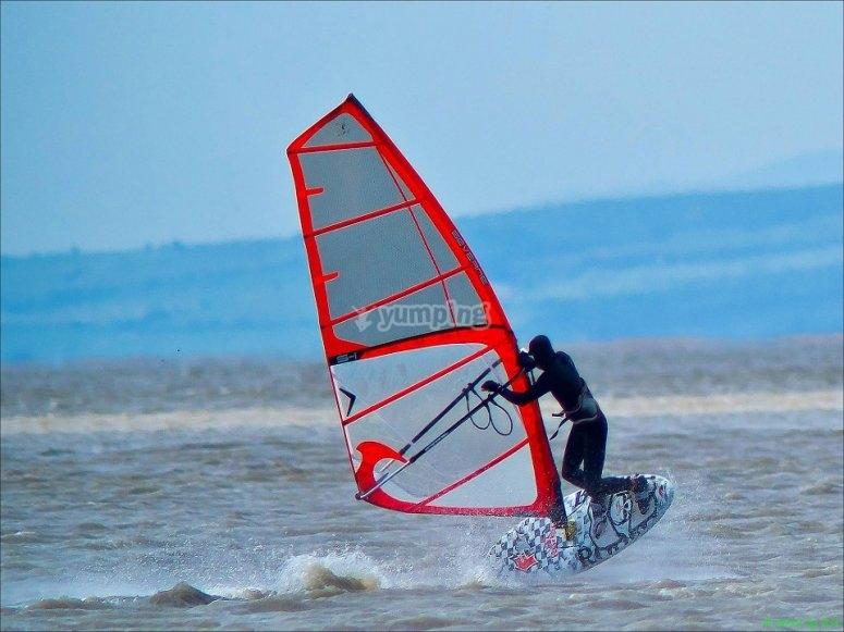 Windsurf en Puerto de Valencia