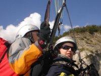 加那利群岛上空的双人飞行