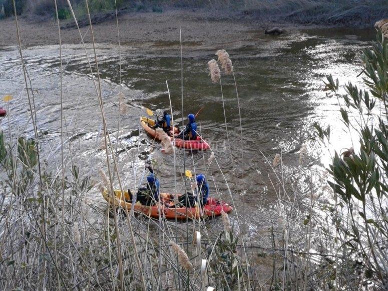Descenso kayaks en Cofrentes
