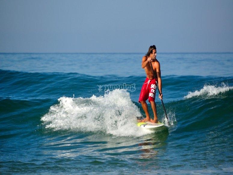 Mega paddle surf a Puerto de Valencia