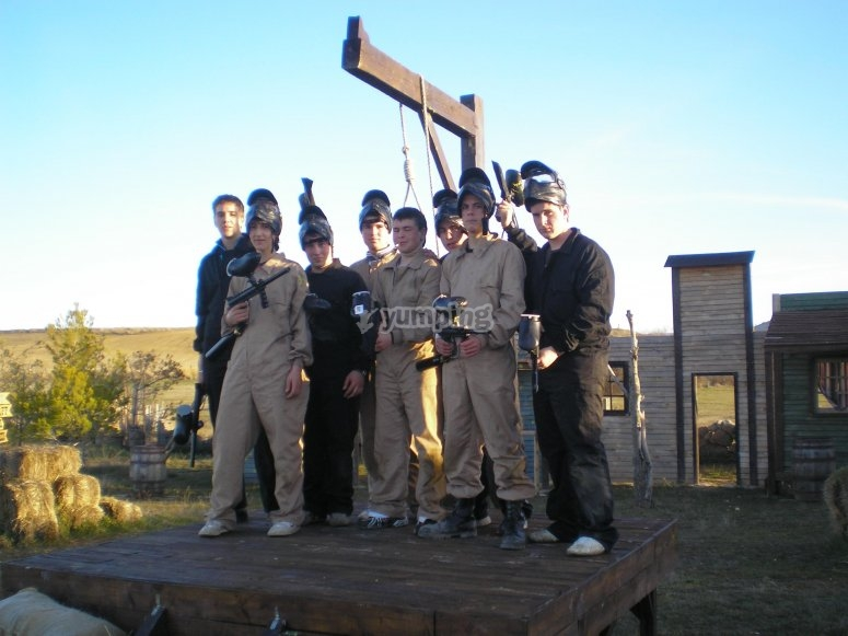 foto de equipo paintball