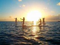 马拉加海岸站立桨