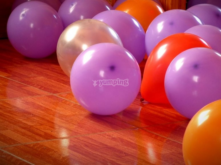 Balloons at the birthday party