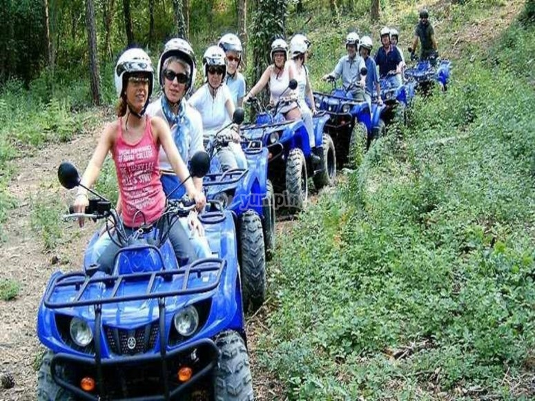 Route on a quad bike