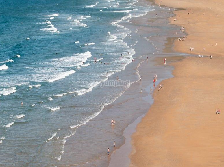 贝里亚海滩的景色