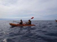 Kayak biplaza en Canarias