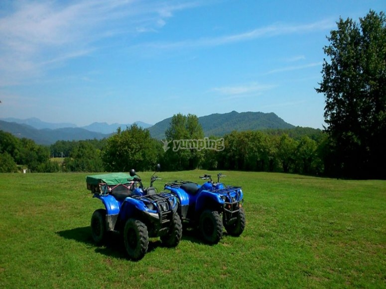 Two seat quads in the countryside
