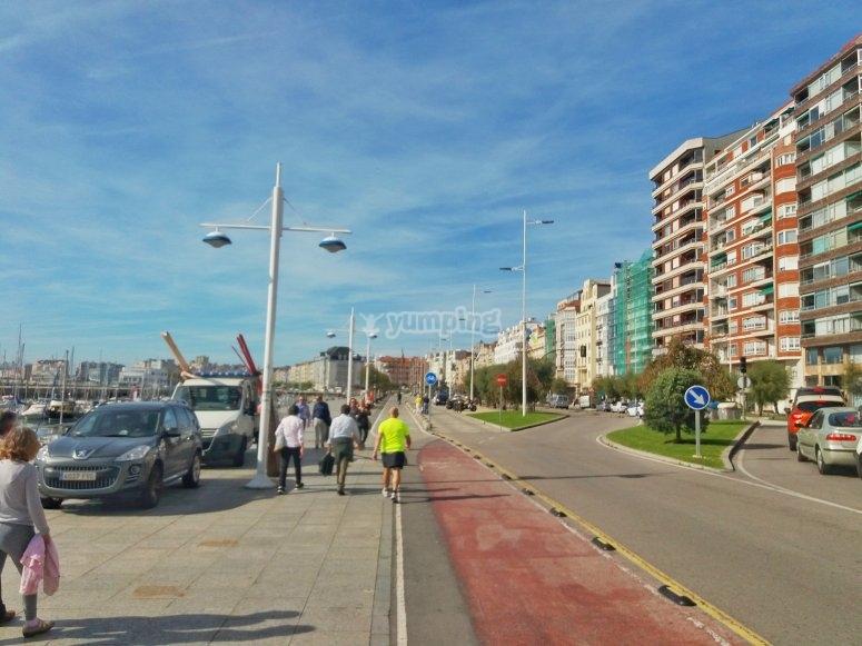 电动自行车游览桑坦德海滨