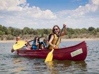 Kayaking in summer