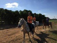 disfruta de los caballos