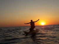 Puesta de sol en kayak