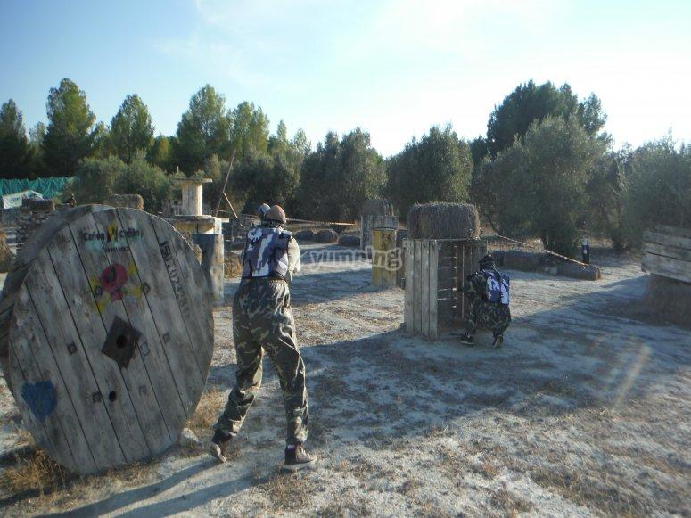 """Paintball 200 bolas foto y video HD en Calasparra"""