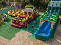 Inflatable playground facilities