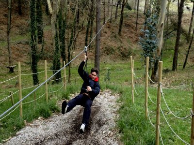 Tree park and zip-line circuit adults at Santander