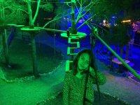 Parque de aventuras de noche