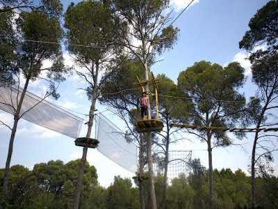 Zip-lines circuit park at Mallorca for Children