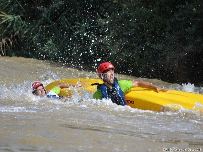 Despedida con kayaks