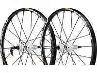 dos ruedas de una bicicleta