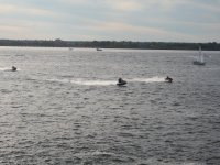 Jet skis during the ride