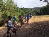 Grupo en ruta con las bicis