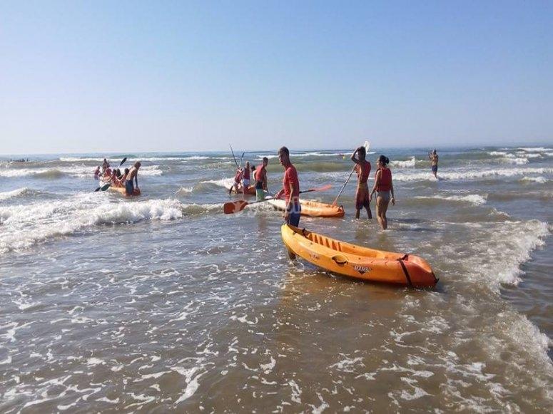 Material de kayak en Huelva
