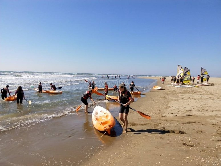Alquiler de kayak triplaza en Isla Canela