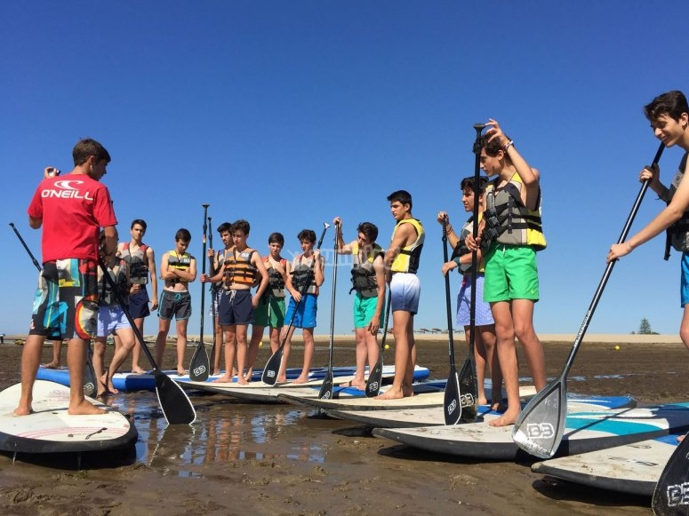Paddle surf con amigos en Ayamonte