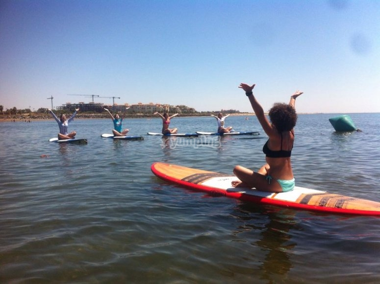 Paddle Surf y Yoga en Huelva
