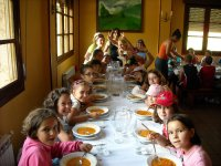 comedor en el summer camp