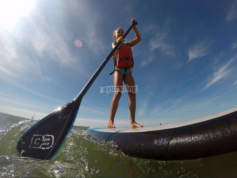 Paddle surf en la costa de Ayamonte