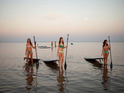 Isla Canela上划桨冲浪课程1小时