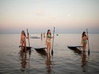 Clase de paddle surf en Costa de la Luz